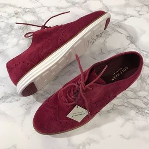 Cole Haan Burgundy Lace Up Shoes Size 6